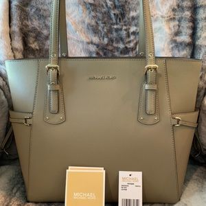 Michael Kors Voyager Small Crossgrain Leather Tote